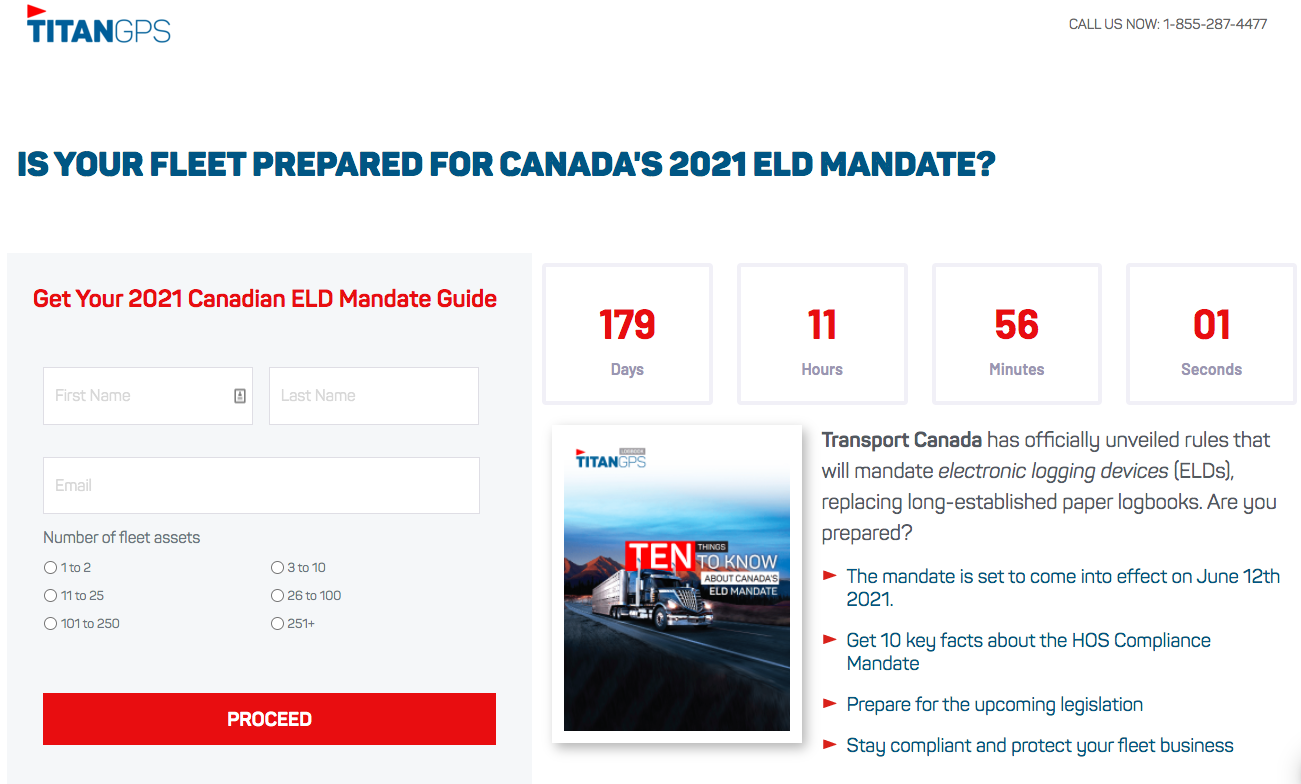 "Titan GPS: ""Is your fleet prepared for Canada's 2021 ELD mandate?"""