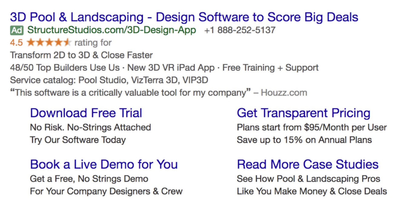 Google Ads creative example for B2B SaaS