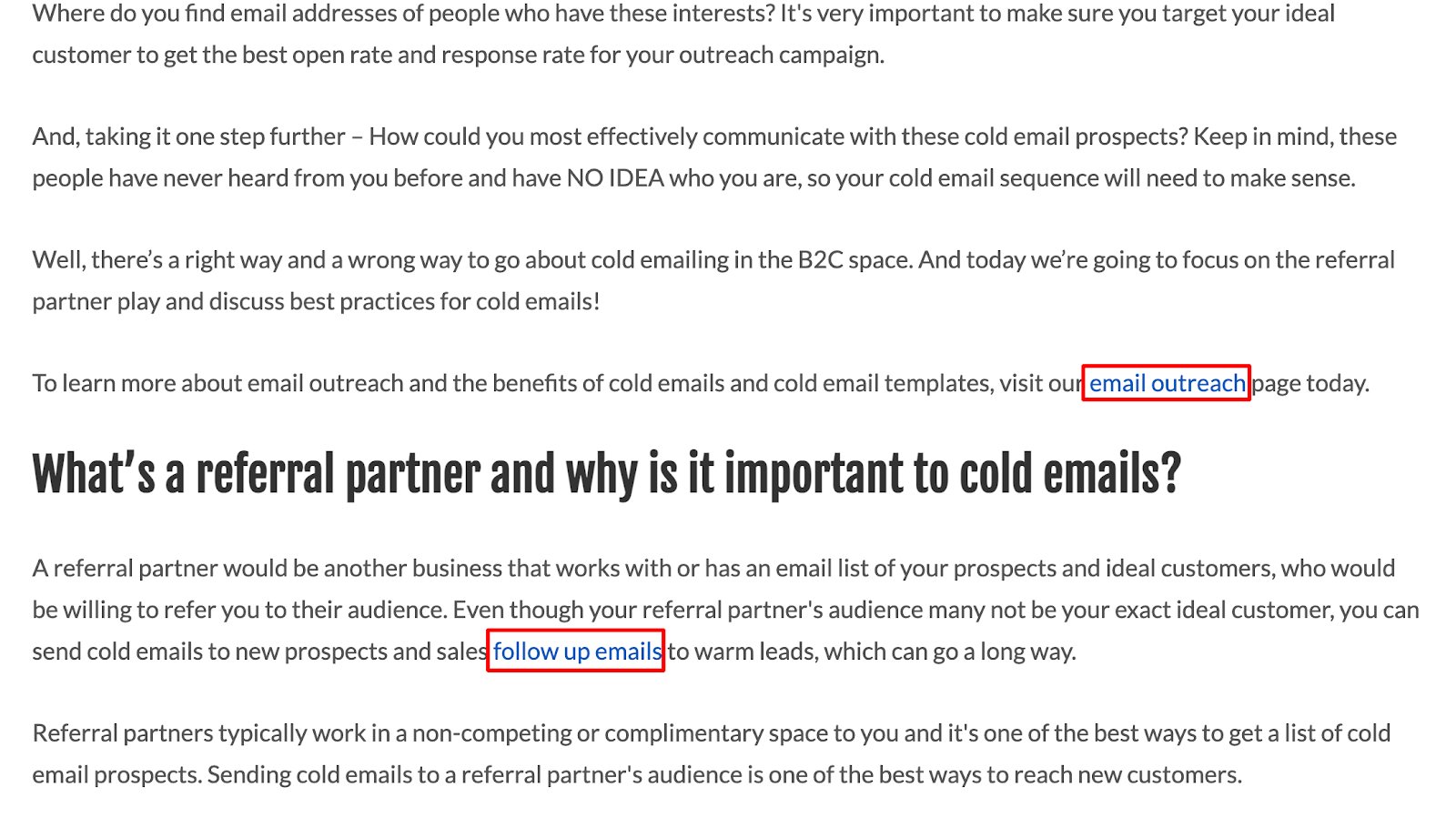 Example of optimizations in our SEO roadmap process for B2B SaaS.