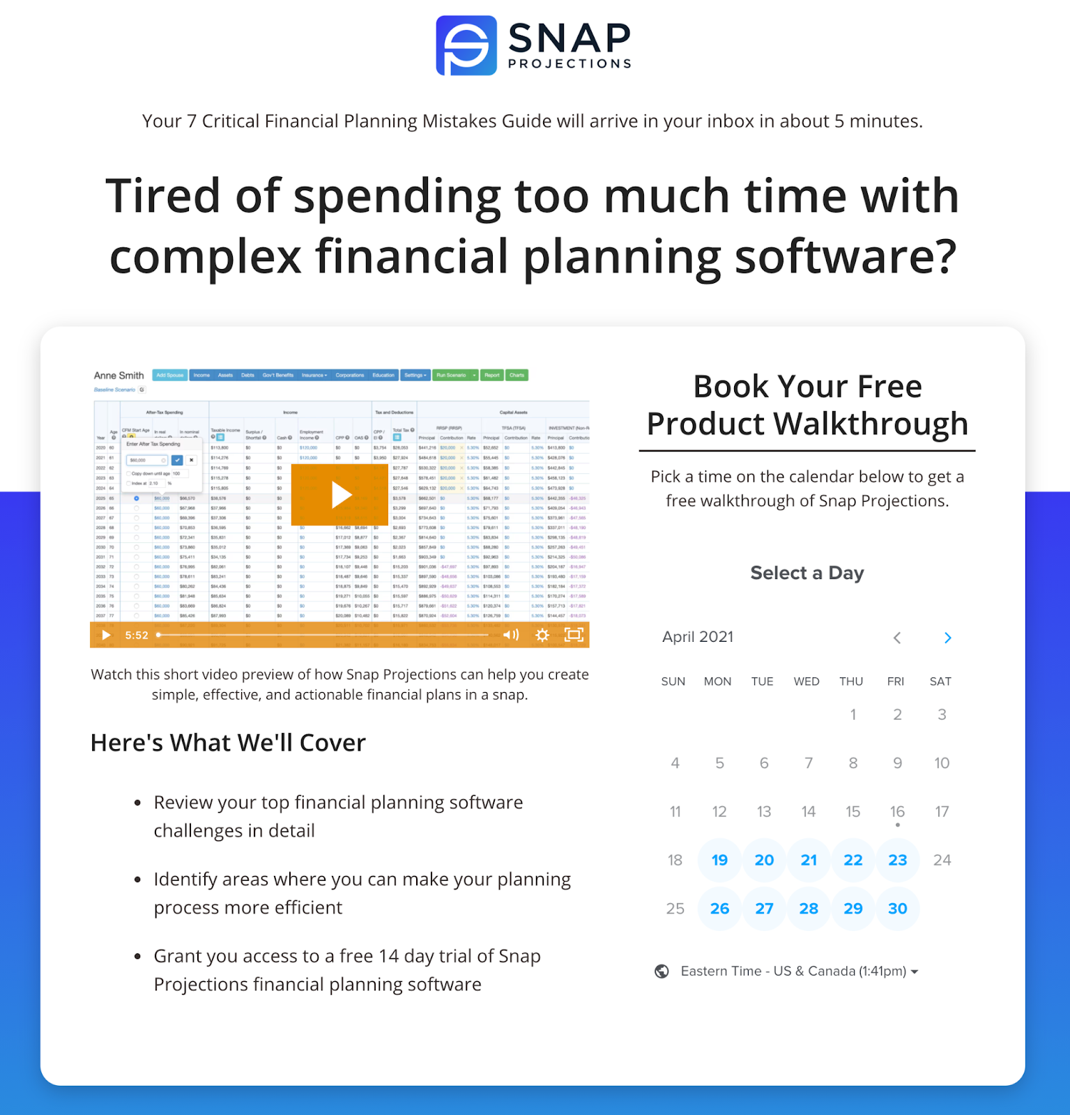 B2B SaaS lead magnet thank you page example by Powered By Search