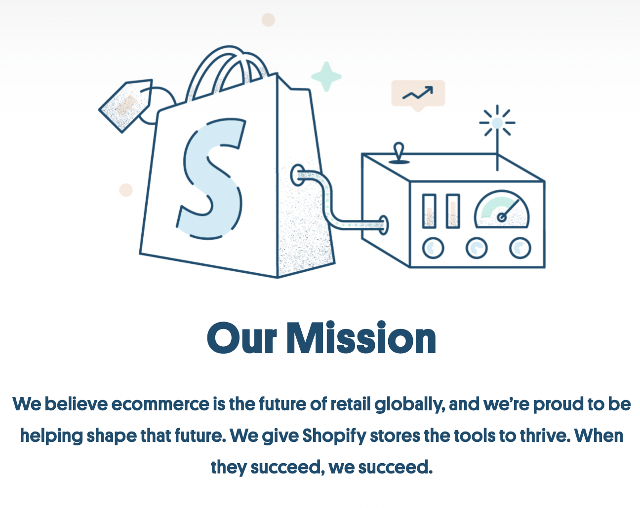 Example of using a Why Us page with a mission statement for positioning in B2B SaaS