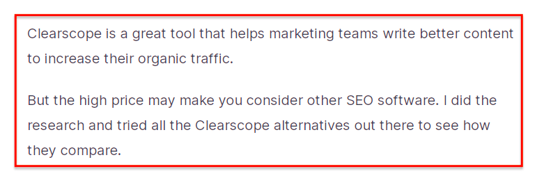 Example of B2B SaaS pain point content
