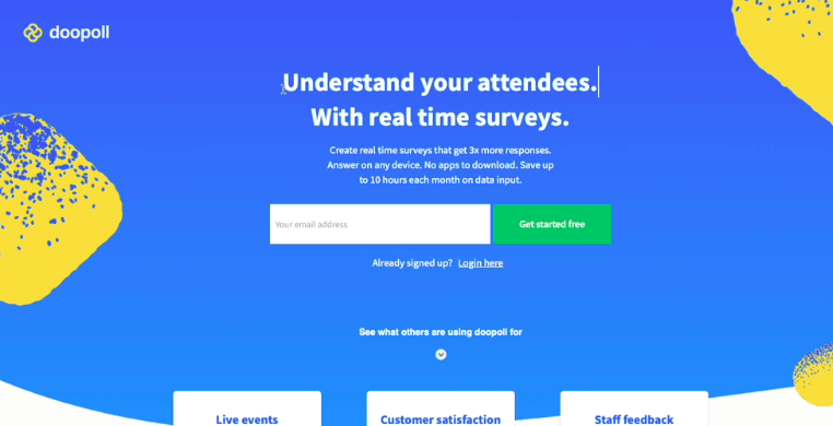 Understand your attendees. With real time surveys.